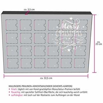 Hallingers 24 Gummibärchen-Adventskalender mit Fruchtsaftbärchen (500g) - Christbaumschmuck (Advents-Karton) - zu Weihnachten Adventskalender - 3