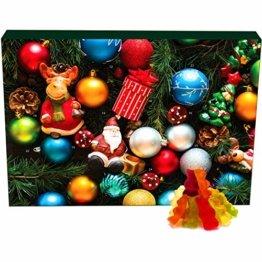 Hallingers 24 Gummibärchen-Adventskalender mit Fruchtsaftbärchen (500g) - Christbaumschmuck (Advents-Karton) - zu Weihnachten Adventskalender - 1