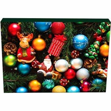 Hallingers 24 Gummibärchen-Adventskalender mit Fruchtsaftbärchen (500g) - Christbaumschmuck (Advents-Karton) - zu Weihnachten Adventskalender - 4