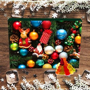 Hallingers 24 Gummibärchen-Adventskalender mit Fruchtsaftbärchen (500g) - Christbaumschmuck (Advents-Karton) - zu Weihnachten Adventskalender - 6