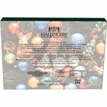 Hallingers 24 Gummibärchen-Adventskalender mit Fruchtsaftbärchen (500g) - Christbaumschmuck (Advents-Karton) - zu Weihnachten Adventskalender - 7