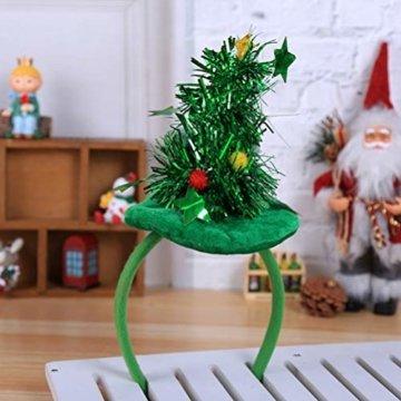 HEALIFTY Weihnachtsbaum Haarband Haarreif Haarreif Christbaumschmuck mit Schmuck für Kinder (grün) - 2