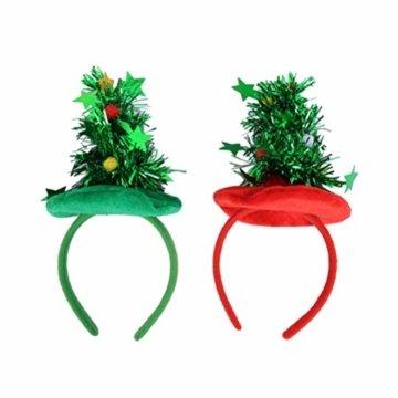 HEALIFTY Weihnachtsbaum Haarband Haarreif Haarreif Christbaumschmuck mit Schmuck für Kinder (grün) - 3