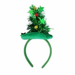HEALIFTY Weihnachtsbaum Haarband Haarreif Haarreif Christbaumschmuck mit Schmuck für Kinder (grün) - 1