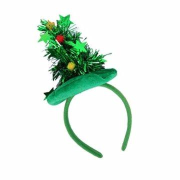 HEALIFTY Weihnachtsbaum Haarband Haarreif Haarreif Christbaumschmuck mit Schmuck für Kinder (grün) - 4