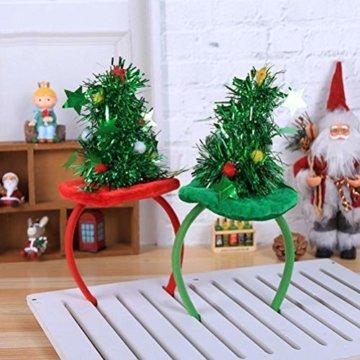 HEALIFTY Weihnachtsbaum Haarband Haarreif Haarreif Christbaumschmuck mit Schmuck für Kinder (grün) - 5