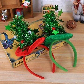 HEALIFTY Weihnachtsbaum Haarband Haarreif Haarreif Christbaumschmuck mit Schmuck für Kinder (grün) - 7