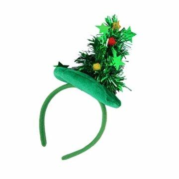 HEALIFTY Weihnachtsbaum Haarband Haarreif Haarreif Christbaumschmuck mit Schmuck für Kinder (grün) - 8