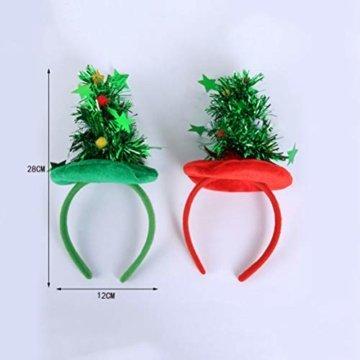 HEALIFTY Weihnachtsbaum Haarband Haarreif Haarreif Christbaumschmuck mit Schmuck für Kinder (grün) - 9