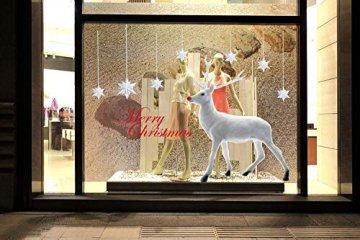 heekpek Weihnachten Deko Wandaufkleber Schlafzimmer Wohnzimmer Fensterbilder Sticker Wandtattoo Wanddeko Weihnachtsdeko, Weihnachten Removable Vinyl Fensterbilder Weihnachtssticker - 3