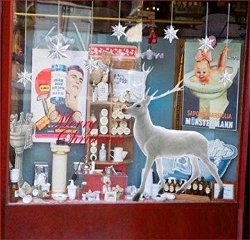 heekpek Weihnachten Deko Wandaufkleber Schlafzimmer Wohnzimmer Fensterbilder Sticker Wandtattoo Wanddeko Weihnachtsdeko, Weihnachten Removable Vinyl Fensterbilder Weihnachtssticker - 4