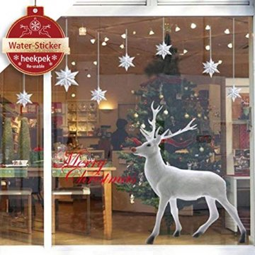 heekpek Weihnachten Deko Wandaufkleber Schlafzimmer Wohnzimmer Fensterbilder Sticker Wandtattoo Wanddeko Weihnachtsdeko, Weihnachten Removable Vinyl Fensterbilder Weihnachtssticker - 1
