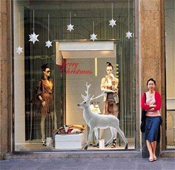 heekpek Weihnachten Deko Wandaufkleber Schlafzimmer Wohnzimmer Fensterbilder Sticker Wandtattoo Wanddeko Weihnachtsdeko, Weihnachten Removable Vinyl Fensterbilder Weihnachtssticker - 5