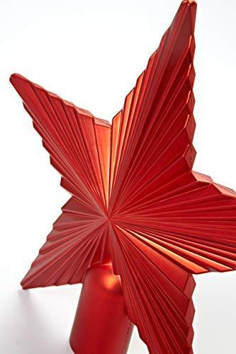 HEITMANN DECO Christbaumspitze Weihnachtsstern aus Kunststoff - Weihnachtsbaumspitze Weihnachtsdeko - Rot - 5