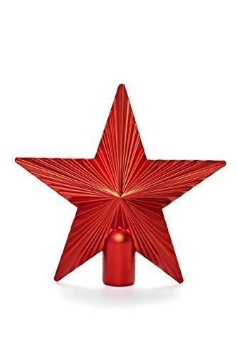 HEITMANN DECO Christbaumspitze Weihnachtsstern aus Kunststoff - Weihnachtsbaumspitze Weihnachtsdeko - Rot - 1