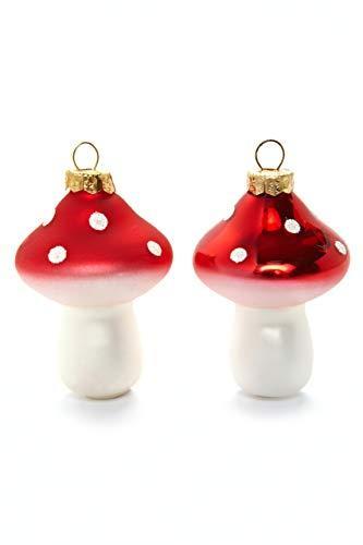 HEITMANN DECO Fliegenpilze aus Glas - Baumbehang Christbaumschmuck Weihnachtskugeln Weihnachtsdeko - 8-teilig Rot, Weiß - 3