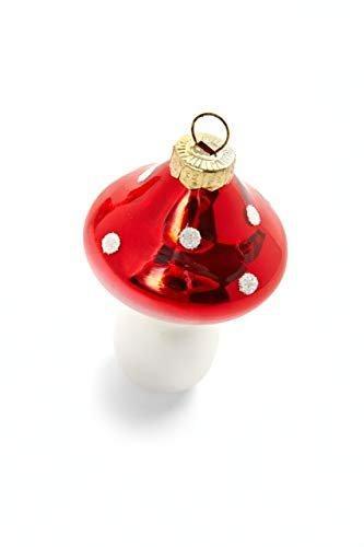 HEITMANN DECO Fliegenpilze aus Glas - Baumbehang Christbaumschmuck Weihnachtskugeln Weihnachtsdeko - 8-teilig Rot, Weiß - 4
