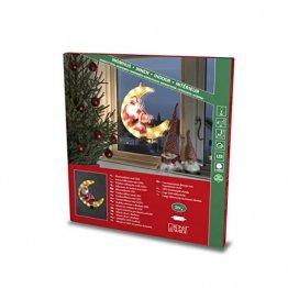 """Konstsmide, 2860-010, LED Fensterbild, """"Weihnachtsmann im Mond"""", 20 warm weiße Dioden, 230V, Innen, weißes Kabel - 1"""
