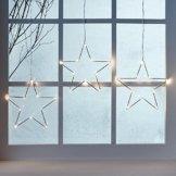 LED Osby Sternen Vorhang 90cm Micro LEDs Timer Batterie Lights4fun - 1
