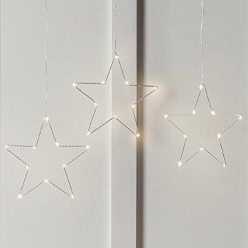 LED Osby Sternen Vorhang 90cm Micro LEDs Timer Batterie Lights4fun - 2