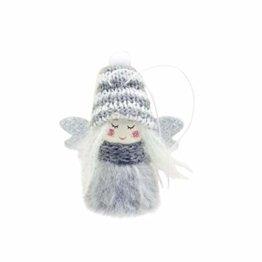 LILIHOT Mini Niedlichen Plüsch Engel Mädchen Weihnachtsbaum Anhänger Ornamente Hauptdekoration Geschenk Lichtern Verkleiden Dekoration Party Niedliche Wolle Puppe Kleine Christbaumschmuck - 1