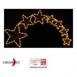 Lunartec Stern mit Schweif: Weihnachtsdeko Kometenschweif mit 120 LEDs, IP44 (Weihnachtsstern mit Schweif) - 1