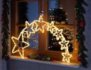 Lunartec Stern mit Schweif: Weihnachtsdeko Kometenschweif mit 120 LEDs, IP44 (Weihnachtsstern mit Schweif) - 4
