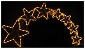 Lunartec Stern mit Schweif: Weihnachtsdeko Kometenschweif mit 120 LEDs, IP44 (Weihnachtsstern mit Schweif) - 7