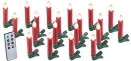 Lunartec Weihnachtskerzen: 20er-Set LED-Weihnachtsbaum-Kerzen mit IR-Fernbedienung, rot (Christbaumkerzen kabellos) - 1