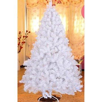 MCTECH 180cm PVC Festive Künstlicher Weihnachtsbaum Weiss Tannenbaum Weiß Christbaum Dekobaum mit Ständer (180cm) - 2