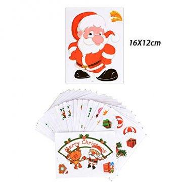 MEJOSER 20pc(10Muster) Weihnachten Fensteraufkleber PVC Fenstersticker Weihnachten Fensterbilder Selbstklebend Weihnachtssticker Tür Aufkleber WandtatttooFensterdeko Weihnachtsdeko - 3