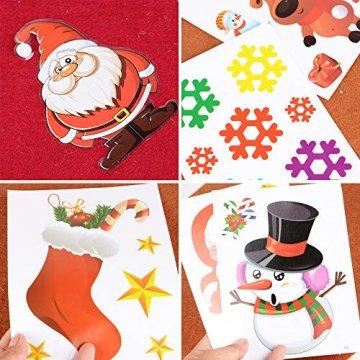MEJOSER 20pc(10Muster) Weihnachten Fensteraufkleber PVC Fenstersticker Weihnachten Fensterbilder Selbstklebend Weihnachtssticker Tür Aufkleber WandtatttooFensterdeko Weihnachtsdeko - 4