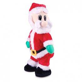 NUOBESTY Weihnachtsmann-Figur, gedreht, singend, elektrisches Spielzeug für Kinder, Weihnachtsdekoration, lustiges Weihnachtsgeschenk (Spanisch) Verschiedene Farben - 1