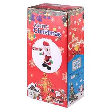 NUOBESTY Weihnachtsmann-Figur, gedreht, singend, elektrisches Spielzeug für Kinder, Weihnachtsdekoration, lustiges Weihnachtsgeschenk (Spanisch) Verschiedene Farben - 9