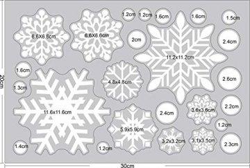 Ptsaying 275 stücke 10 blätter Weihnachten fensterbilder, Weihnachtsmann und Elch Aufkleber, Schneeflocken Fensterbild mit Weihnachtsmann Elk Abnehmbare Weihnachten Aufkleber Fenster - 6