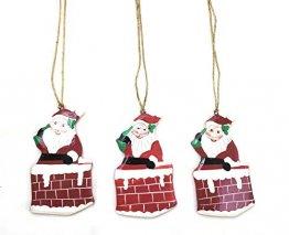 Rumikrafts Weihnachtsmannfiguren aus Pappmaché, handgefertigt, 3 Stück - 1