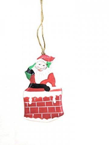Rumikrafts Weihnachtsmannfiguren aus Pappmaché, handgefertigt, 3 Stück - 2