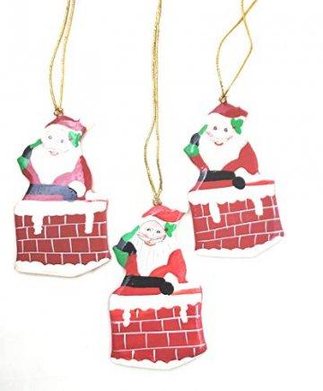 Rumikrafts Weihnachtsmannfiguren aus Pappmaché, handgefertigt, 3 Stück - 3