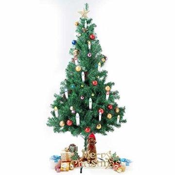 SunJas 10/20/30 er Weihnachten Kerzen RGB, kabellose Farbwechsel Weihnachtskerzen mit Fernbedienung, Weihnachtsbeleuchtung, LED Kerzen in 3 verscheidene Blinkeffekt, für Weihnachtsbaum - 7
