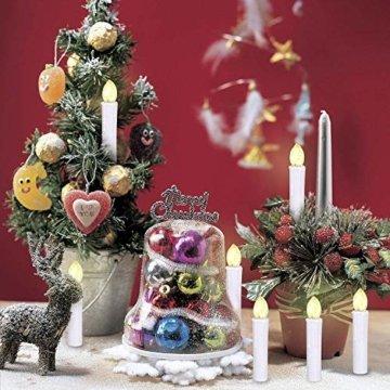 SunJas 30er Weihnachten LED Kerzen Lichterkette Kerzen Weihnachtskerzen Weihnachtsbaum Kerzen mit Fernbedienung Kabellos - 4
