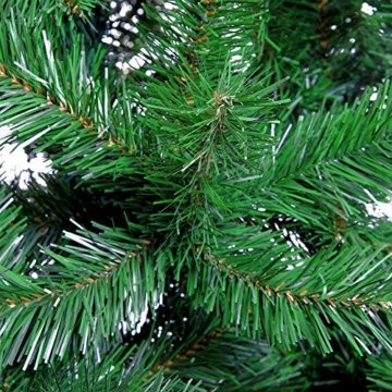 Weihnachtsbaum 150 cm Ständer LED Lichterkette Pop Up künstlicher Tannenbaum Christbaum Baum Tanne Weihnachten Grün PVC - 3