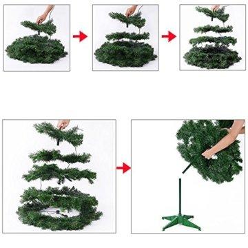 Weihnachtsbaum 150 cm Ständer LED Lichterkette Pop Up künstlicher Tannenbaum Christbaum Baum Tanne Weihnachten Grün PVC - 5
