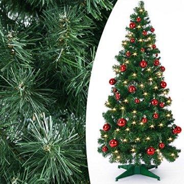 Weihnachtsbaum 150 cm Ständer LED Lichterkette Pop Up künstlicher Tannenbaum Christbaum Baum Tanne Weihnachten Grün PVC - 7