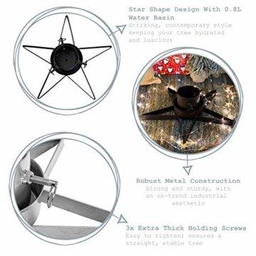 Weihnachtsbaumständer aus Metall - sternförmig - Schwarz - 2