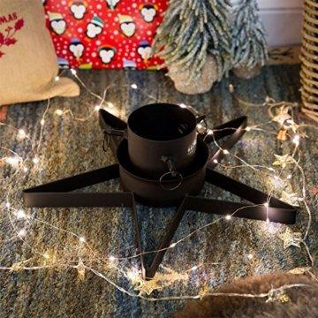 Weihnachtsbaumständer aus Metall - sternförmig - Schwarz - 3