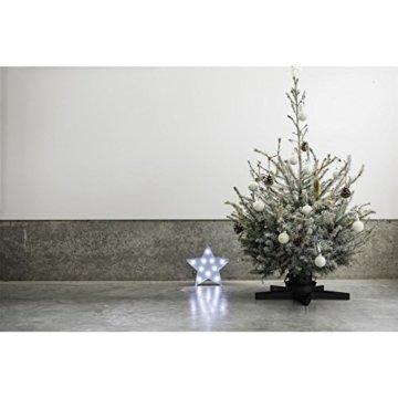 Weihnachtsbaumständer aus Metall - sternförmig - Schwarz - 7
