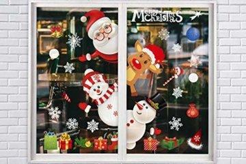 Weihnachtsdeko Fenster, Weihnachten Fensterbilder, Weihnachten Fenstersticker Fensteraufkleber PVC Fensterdeko Selbstklebend, für Türen Schaufenster Vitrinen Glasfronten Deko - 7