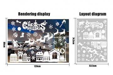 Weihnachtsdeko Fenster, Weihnachten Fensterbilder, Weihnachten Fenstersticker Fensteraufkleber PVC Fensterdeko Selbstklebend, für Türen Schaufenster Vitrinen Glasfronten Deko - 2