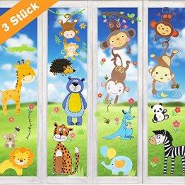 Wimaha Fenstersticker Tiere Fensterfolien Fensterdeko Fensterbilder Fensteraufkleber für Wohnzimmer Schlafzimmer Kinderzimmer,30x40cm - 1