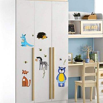 Wimaha Fenstersticker Tiere Fensterfolien Fensterdeko Fensterbilder Fensteraufkleber für Wohnzimmer Schlafzimmer Kinderzimmer,30x40cm - 4